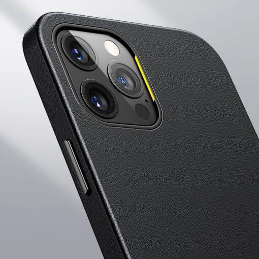 iPhone 12 ja 12 Pro Baseus kunstnahast umbris MagSafe sinine 17