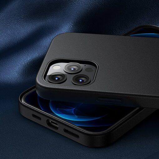 iPhone 12 ja 12 Pro Baseus kunstnahast umbris MagSafe sinine 18