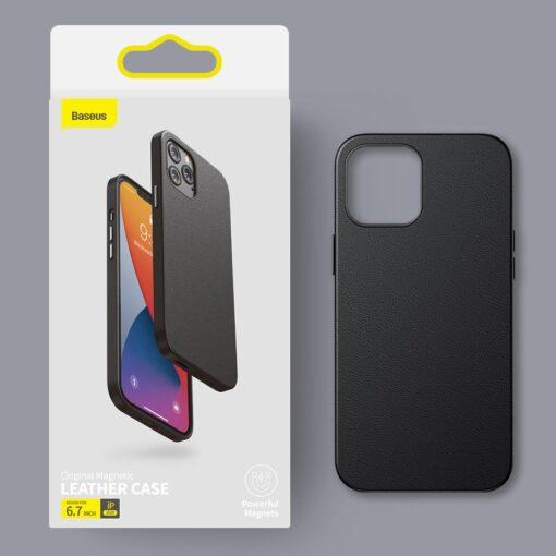 iPhone 12 ja 12 Pro Baseus kunstnahast umbris MagSafe sinine 19