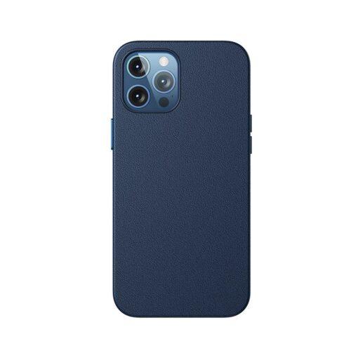 iPhone 12 ja 12 Pro Baseus kunstnahast umbris MagSafe sinine 2