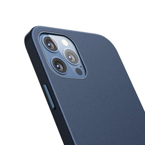 iPhone 12 ja 12 Pro Baseus kunstnahast umbris MagSafe sinine 6