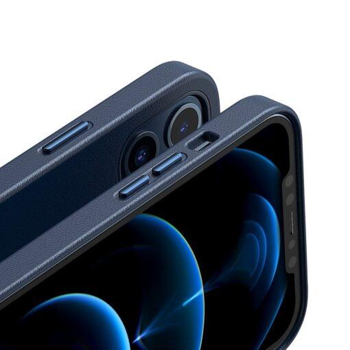 iPhone 12 ja 12 Pro Baseus kunstnahast umbris MagSafe sinine 7