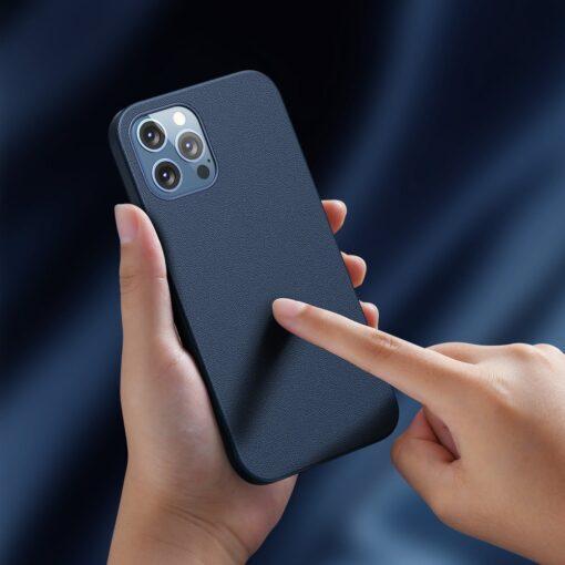 iPhone 12 ja 12 Pro Baseus kunstnahast umbris MagSafe sinine 9