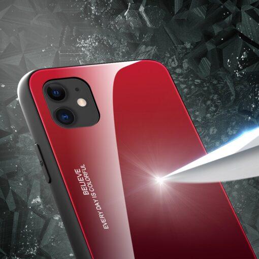 iPhone 12 ja 12 Pro umbris gradient must punane 1