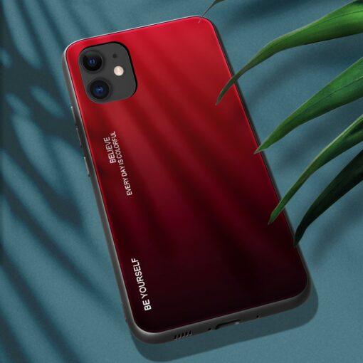 iPhone 12 ja 12 Pro umbris gradient must punane 2