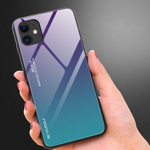 iPhone 12 ja 12 Pro umbris gradient must punane 6