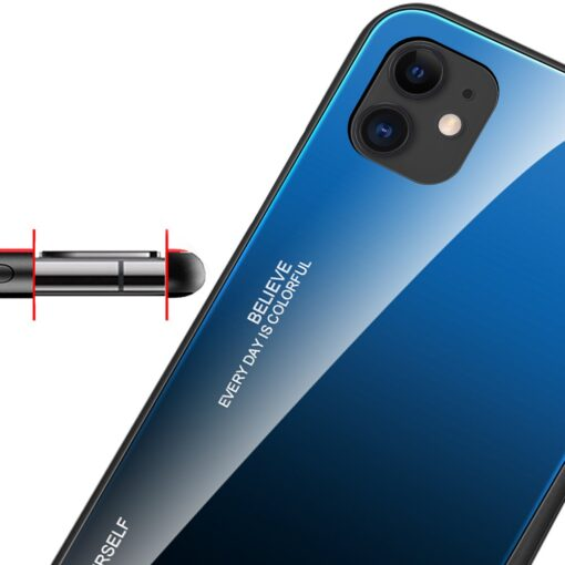 iPhone 12 ja 12 Pro umbris gradient must punane 8