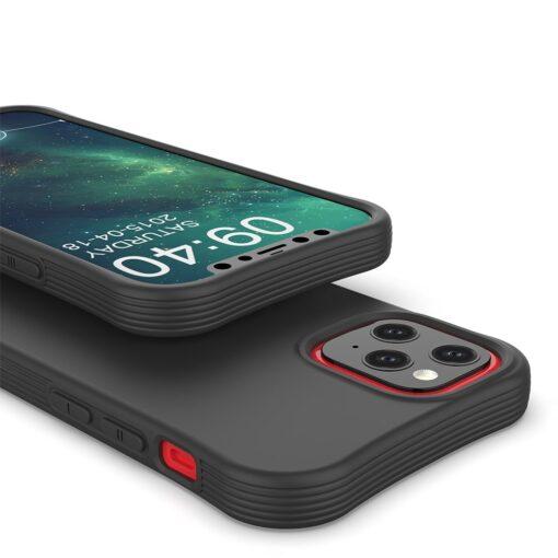 iPhone 12 mini tugevdatud nurkadega silikoonist umbris must 3