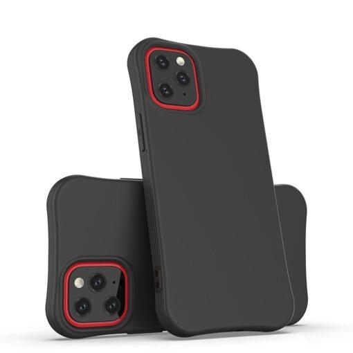 iPhone 12 mini tugevdatud nurkadega silikoonist umbris must 4