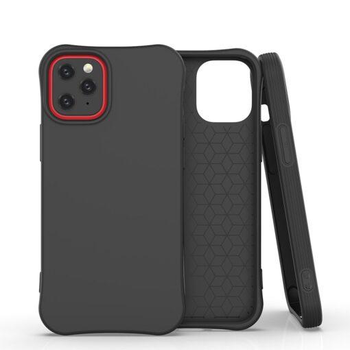 iPhone 12 mini tugevdatud nurkadega silikoonist umbris must