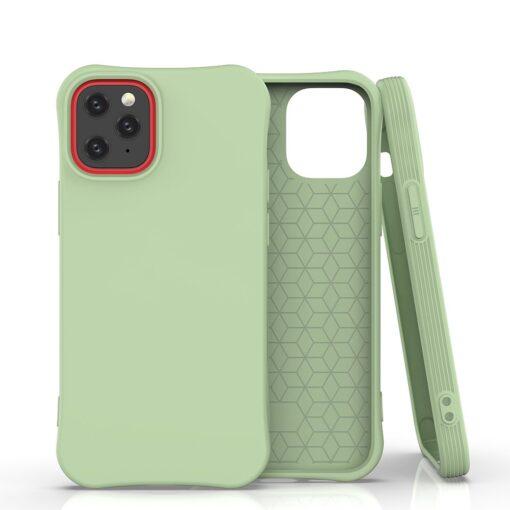 iPhone 12 mini tugevdatud nurkadega silikoonist umbris roheline
