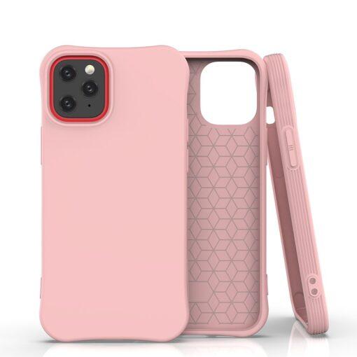 iPhone 12 mini tugevdatud nurkadega silikoonist umbris roosa
