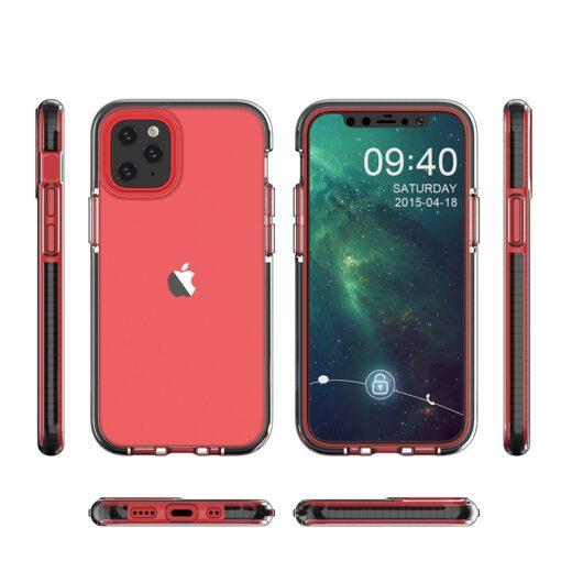 iPhone 12 mini umbris silikoonist varvilise raamiga roosa 1