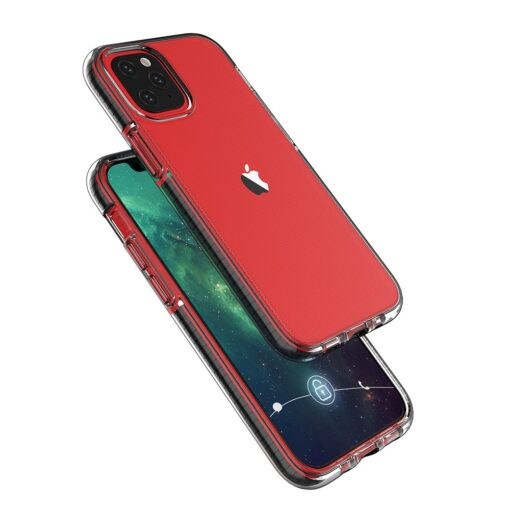 iPhone 12 mini umbris silikoonist varvilise raamiga roosa 3