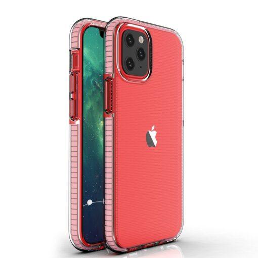 iPhone 12 mini umbris silikoonist varvilise raamiga roosa