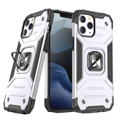 iPhone 1212 Pro tugev umbris Ring Armor plastikust taguse ja silikoonist nurkadega hobe