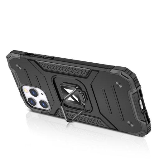 iPhone 1212 Pro tugev umbris Ring Armor plastikust taguse ja silikoonist nurkadega punane 3