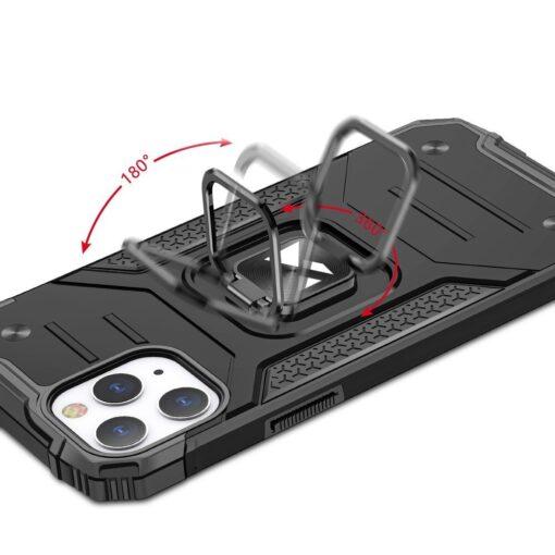 iPhone 1212 Pro tugev umbris Ring Armor plastikust taguse ja silikoonist nurkadega punane 4