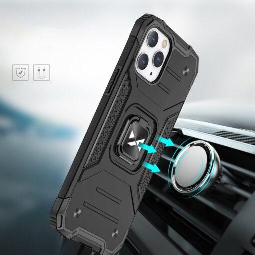 iPhone 1212 Pro tugev umbris Ring Armor plastikust taguse ja silikoonist nurkadega punane 5