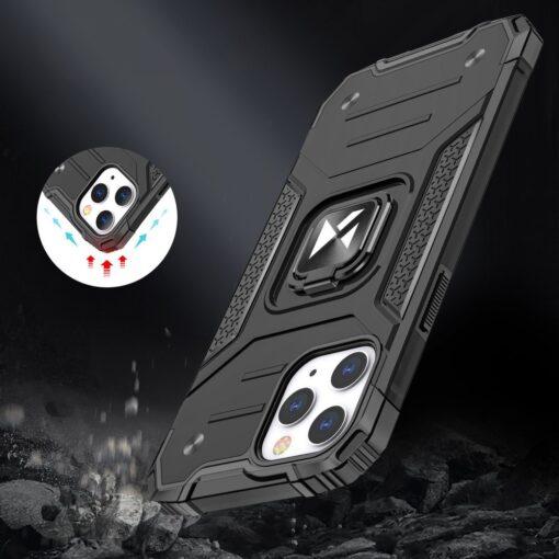 iPhone 1212 Pro tugev umbris Ring Armor plastikust taguse ja silikoonist nurkadega sinine 6