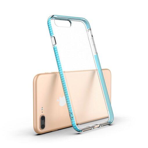 iPhone 8 Plus7 Plus umbris silikoonist varvilise raamiga roosa 2