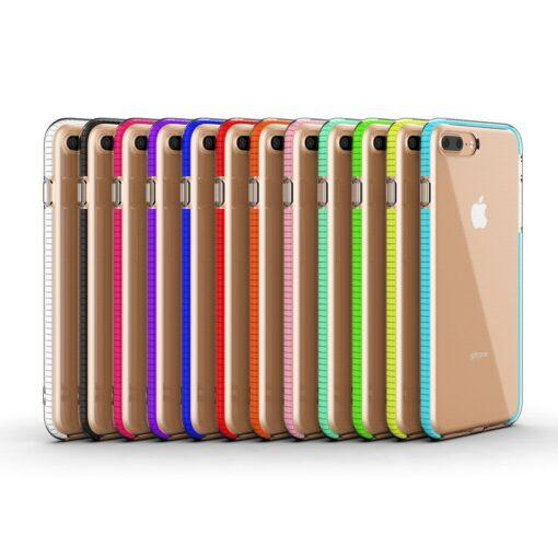 iPhone 8 Plus7 Plus umbris silikoonist varvilise raamiga roosa 4