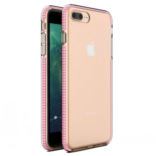 iPhone 8 Plus7 Plus umbris silikoonist varvilise raamiga roosa
