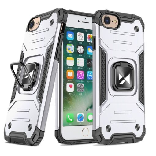 iPhone SE202087 tugev umbris Ring Armor plastikust taguse ja silikoonist nurkadega hobe