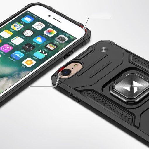 iPhone SE202087 tugev umbris Ring Armor plastikust taguse ja silikoonist nurkadega roosa 1