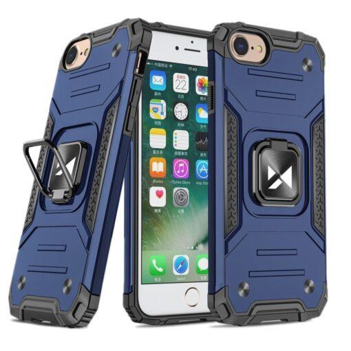 iPhone SE202087 tugev umbris Ring Armor plastikust taguse ja silikoonist nurkadega sinine