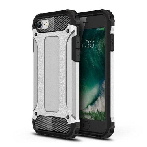 iPhone SE202087 umbris Hybrid Armor plastikust taguse ja silikoonist raamiga hobe