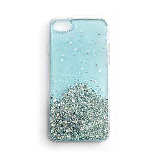 iPhone SE202087 umbris silikoonist sadelevate tahtedega sinine