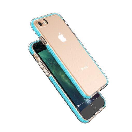 iPhone SE202087 umbris silikoonist varvilise raamiga roosa 1