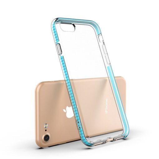 iPhone SE202087 umbris silikoonist varvilise raamiga roosa 2