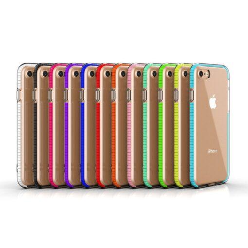 iPhone SE202087 umbris silikoonist varvilise raamiga roosa 4