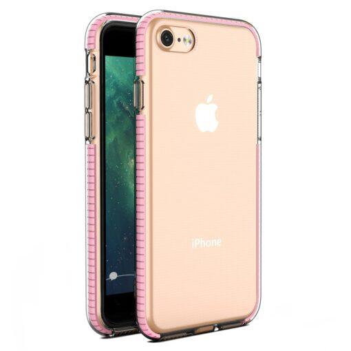 iPhone SE202087 umbris silikoonist varvilise raamiga roosa