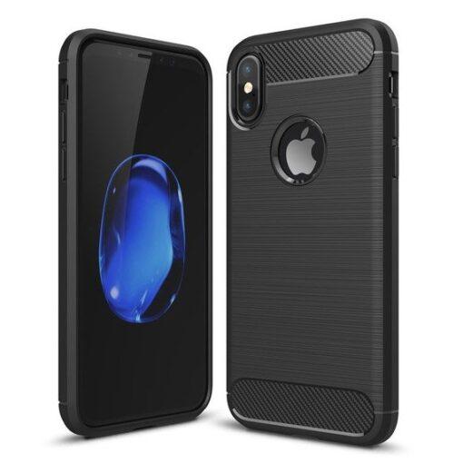 iPhone X XS umbris silikoonist Carbon must