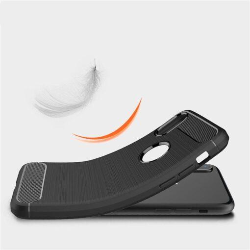 iPhone X XS umbris silikoonist Carbon must 6