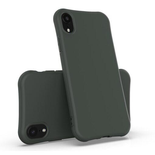 iPhone XR tugevdatud nurkadega silikoonist umbris tumeroheline 1