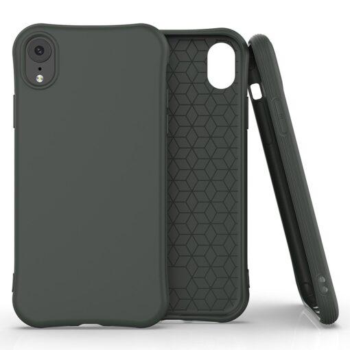 iPhone XR tugevdatud nurkadega silikoonist umbris tumeroheline