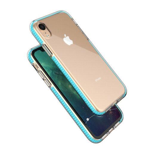 iPhone XR umbris silikoonist varvilise raamiga roosa 1