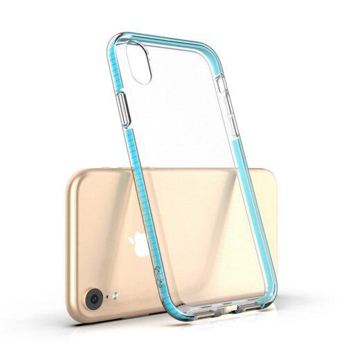 iPhone XR umbris silikoonist varvilise raamiga roosa 2