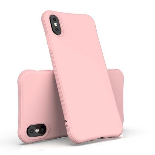 iPhone XS Max tugevdatud nurkadega silikoonist umbris punane 3