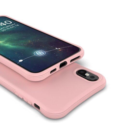 iPhone XS Max tugevdatud nurkadega silikoonist umbris punane 4