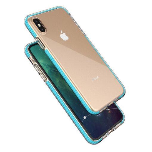 iPhone XS Max umbris silikoonist varvilise raamiga must 1