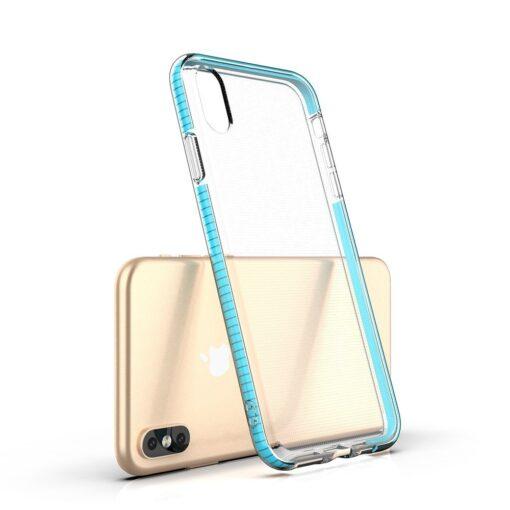 iPhone XS Max umbris silikoonist varvilise raamiga must 2