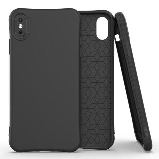 iPhone XSX tugevdatud nurkadega silikoonist umbris must