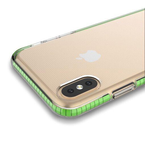 iPhone XSX umbris silikoonist varvilise raamiga roosa 1