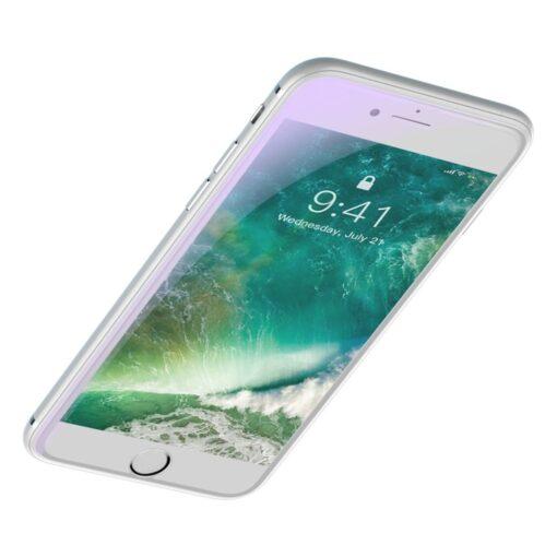 2tk iPhone 87 Plus kaitseklaas sinise valguse kaitsega Anti Blue Light valge 5