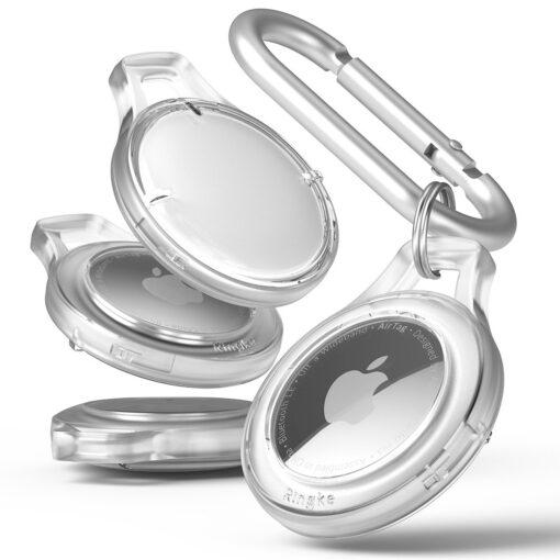 Airtag umbris Rinkge Airtag Slim Case Set 4x votmehoijda karabiiniga labipaistev 1
